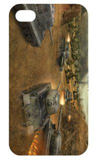 World of Tanks Games Fashion Hard Back Cover Skin Case for Apple Iphone 4 4g 4s 4th Generation i4wot1006 Cell Phones & Accessories