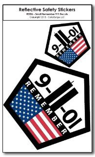 Small Remember 911 REFLECTIVE Decals Automotive