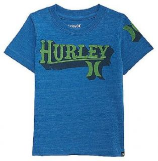 Hurley Baby Boys Americana Tee (12 24 Months) Code Blue Heather, 12 Months Novelty T Shirts Clothing