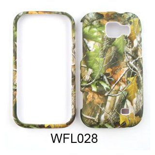 Samsung Transform M920 Camo , Camouflage Hunter Series, w/ Green Leaves Hard Case,Cover,Faceplate,SnapOn,Protector Cell Phones & Accessories