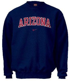 Arizona Wildcats College Embroidered Crewneck Sweatshirt By Nike Team Sports (S36) Sports & Outdoors