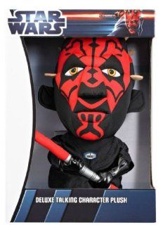 "Star Wars Darth Maul Talking Plush Size 15"" Toys & Games"