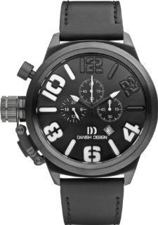Danish Design IQ14Q917 Stainless Steel Case Black Dial Leather Band Chronograph Men's Watch at  Men's Watch store.
