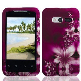 Huawei M920 / Activa 4G Graphic Protective Hard Case   Feather Flower Cell Phones & Accessories