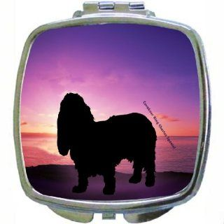 Rikki KnightTM Cavalier King Charles Spaniel Dog At Sunset Design Compact Mirror  Personal Makeup Mirrors  Beauty