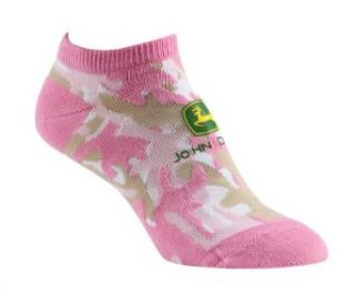 John Deere Ladies Ankle Socks Pink Camo Clothing