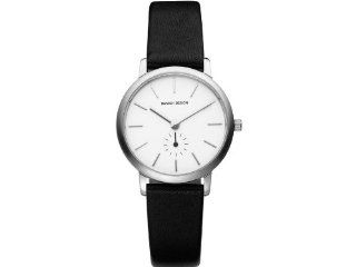 Danish Design IV12Q930 Stainless Steel Case Silver Dial Black Leather Band Women's Watch at  Women's Watch store.