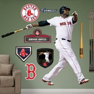 MLB Boston Red Sox David Ortiz Wall Graphics  Sports Fan Wall Banners  Sports & Outdoors