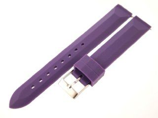 16mm Purple Rubber Watch Band / Strap (Quick Release Pins) with Stainless Steel Buckle   Fit's All Watches Watches