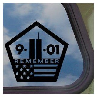 "WORLD TRADE CENTER 911 MEMORIAL 5.5"" (color BLACK) Vinyl Decal Window Sticker for Cars, Trucks, Windows, Walls, Laptops, and other stuff."