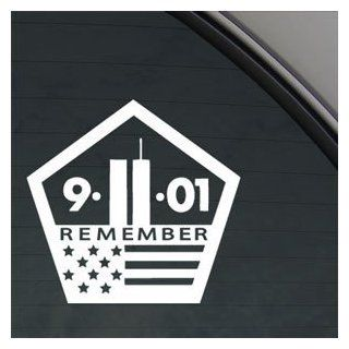 "WORLD TRADE CENTER 911 MEMORIAL 5.5"" (color WHITE) Vinyl Decal Window Sticker for Cars, Trucks, Windows, Walls, Laptops, and other stuff."