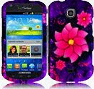 Purple Pink Flower Hard Cover Case for Samsung Galaxy Stellar SCH i200 Cell Phones & Accessories