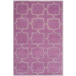 Safavieh CHT937D Chatham Collection Wool Area Rug, 8 Feet by 10 Feet, Pink