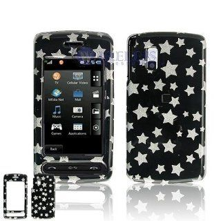 Lg Vu CU920/CU915 Cell Phone Black/Silver Star Design Protective Case Faceplate Cover Cell Phones & Accessories