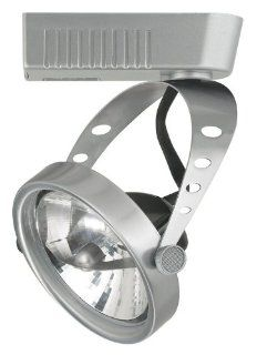 "Cal Lighting JT 943EX18 BS Brushed Steel 1 Light 50 Watt Round Track Head with 6"" Extension Rod for JT Track Systems"