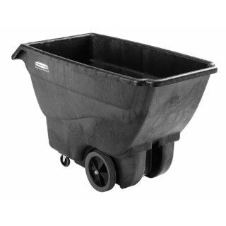 "Rubbermaid Commercial Executive Series 1867539 HDPE Box Cart with Steering Wheel, Quiet Casters 600 lbs Load Capacity, 38"" Height, 64 1/2"" Length x 30 1/4"" Width Service Carts"