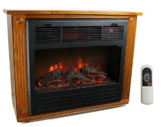 NEW LifeSmart LS FP1500 1500 Watt Infrared Quartz Electric Fireplace Heater