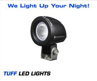 "Tuff LED Lights 2"" Inch Round 10 Watt Tuff CREE LED Work Light 950 Lumens   Atv, Utv, Off Road Jeep 4x4 Polaris Razor, Yamaha Rhino, Can Am SUV, Truck, Trailer ,HID Golf Cart, Tractor Side by Side Automotive"