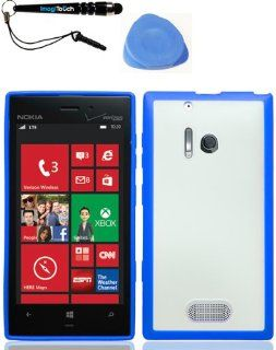 IMAGITOUCH(TM) 3 Item Combo Nokia 928 Lumia (Verizon) PROZKIN Blue PC TPU Case Cover Phone Protector (Stylus pen, Pry Tool, Phone Cover) Cell Phones & Accessories