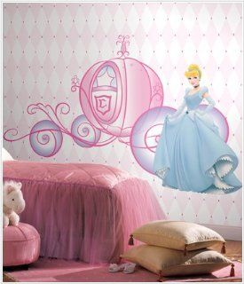 Disney Princess Cinderella & Carriage Giant Wall Decals   Other Products