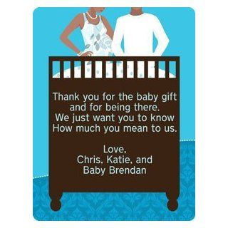 African American Couples Baby Shower Party Favor Labels  All Purpose Labels