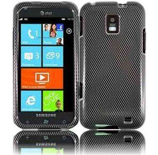Gray Black Carbon Fiber Pattern Hard Cover Case for Samsung Focus S SGH I937 Cell Phones & Accessories