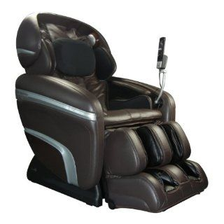 Osaki OS 7200CR B Deluxe 2 Stage Zero Gravity Massage Chair, Brown, 10 Auto Massage Programs, 48 Air Bags, Full Computer Body Scan Technology, Large LCD Screen Display, Foot Rollers,  Player Connection with Vibration, 3D Massage Technology, Accupoint Te