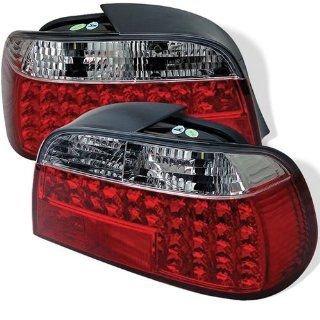 BMW E38 730i 735i 740i 750i 760i 7 Series 95 96 97 98 99 00 01 LED Tail Lights + Hi Power White LED Backup Lights   Red Clear (Pair) Automotive
