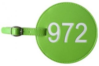 972 AREA CODE LUGGAGE TAG GREEN Clothing