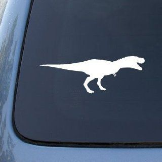 TYRANNOSAURUS REX DINOSAUR   Vinyl Car Decal Sticker #1754  Vinyl Color White Automotive