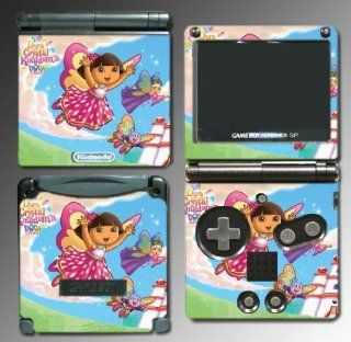 Dora the Explorer Saves the Crystal Kingdom Game Vinyl Decal Skin Protector Cover Kit 4 for Nintendo GBA SP Gameboy Advance Game Boy Video Games