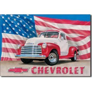 (11x16) Chevrolet Chevy 1951 Pickup Truck Retro Vintage Tin Sign, 16x13   Decorative Signs