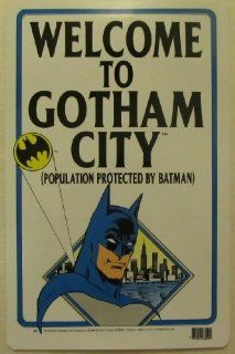 Batman Sign Welcome To Gotham City Vintage   Decorative Signs