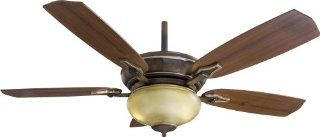 "MinkaAire Facets 5 Blade 54"" Ceiling Fan with Blades and Integrated 2 CFL Bulb Light Kit Included, Belcaro Walnut   Ceiling Fans"