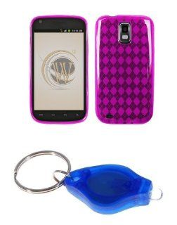 Premium Magenta Purple Thermoplastic Polyurethane TPU Gel Skin Case Cover + Atom LED Keychain Light for Samsung Galaxy S II SGH T989 (T Mobile) Cell Phones & Accessories