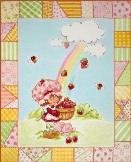 Strawberry Shortcake Classic Panel Red Fabric