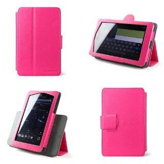 champiOnline's Asus Google Nexus 7 (1st Generation) Touch Screen Tablet Rotating 360 Case, Cover & Stand in Pink + MATTE Anti Glare Anti Finger Print Screen Protector Computers & Accessories