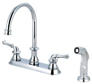 Pioneer 2DM301 TB Two Handle Kitchen Faucet, PVD Tuscany Bronze Finish   Touch On Kitchen Sink Faucets