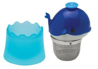 HIC Brands that Cook Floatin' Tea Infuser with Stainless Steel Basket, Whale Shape Tea Strainers Kitchen & Dining