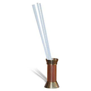 Straw Holder Copper and Brass Height 3.75 Inches Kitchen & Dining