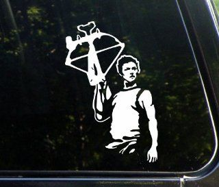"Daryl Dixon (LARGE) of The Walking Dead (5 1/2"" x 8 1/4"") Die Cut Vinyl Decal / Bumper Sticker for Window, Trucks, Car, Laptop, Etc."