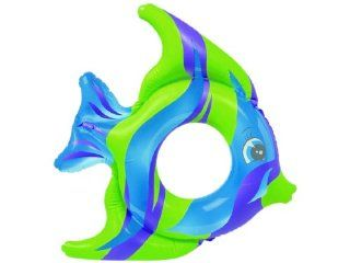 Intex Tropical Fish Inflatable Swim Ring (Blue, Green and Purple) Toys & Games
