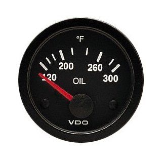 "VDO 310106 Vision Style Electrical Oil Temperature Gauge 2 1/16"" Diameter, 300F Automotive"