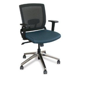 Marvel WMCOPFA 5820 Operational Mesh Chair with Iris Fabric and Aluminum Base, Iris   Desk Chairs