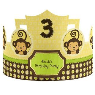 Monkey Neutral   Personalized Birthday Party Hats Toys & Games