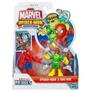 Marvel Super Hero Adventures Mini Figure 2Pack Spiderman Dr. Octopus Toys & Games