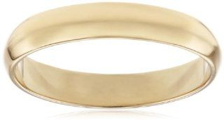 Men's 10k Yellow Gold 4mm Traditional Plain Wedding Band Jewelry