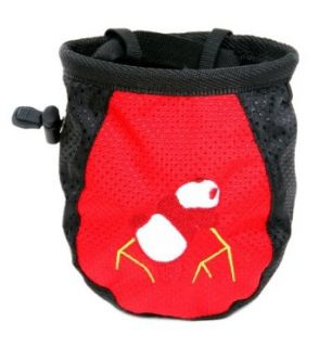 Red Unisex Chalk Bag Rock Climbing Weight Lifting Powder Bag   Fathers Day Gifts Clothing