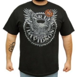 Harley Davidson Mens 110th Anniversary Horizon Black Short Sleeve T Shirt at  Men�s Clothing store Fashion T Shirts