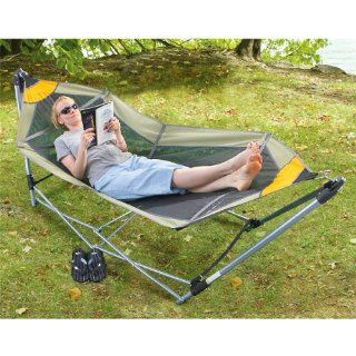 Guide Gear Portable Folding Hammock  Camping Hammocks  Patio, Lawn & Garden